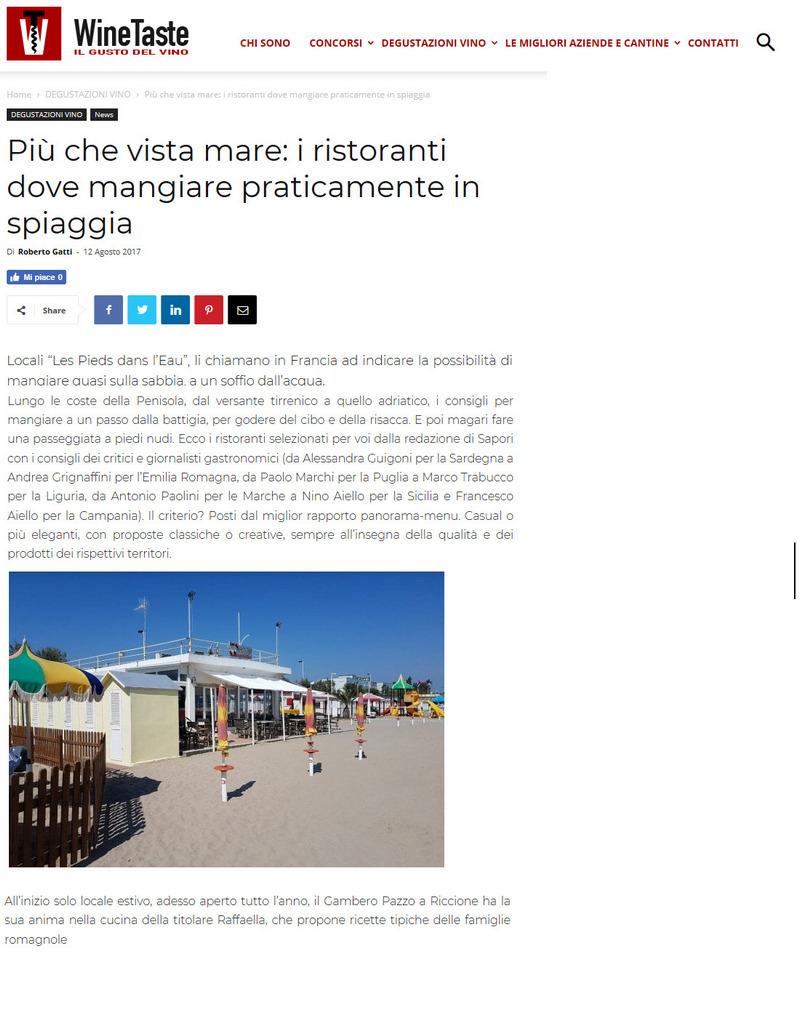 Wine Taste – Più che vista mare: i ristoranti dove mangiare praticamente in spiaggia